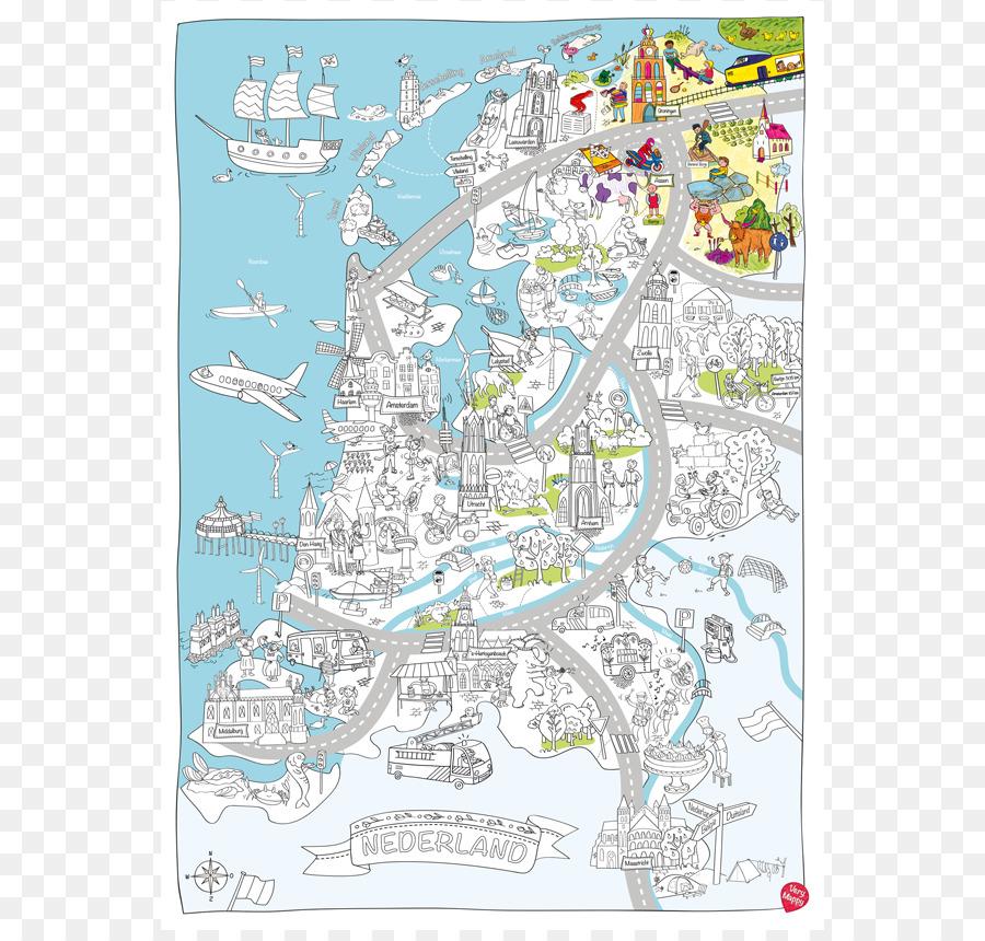 WYLIWYG Very Mappy Haarlem Kleurplaat - map png download - 832*850 ...