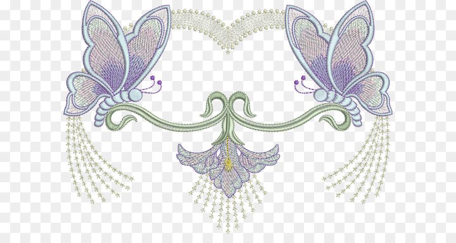 Mariposa Patrón de bordado de la Máquina - mariposa png dibujo ...