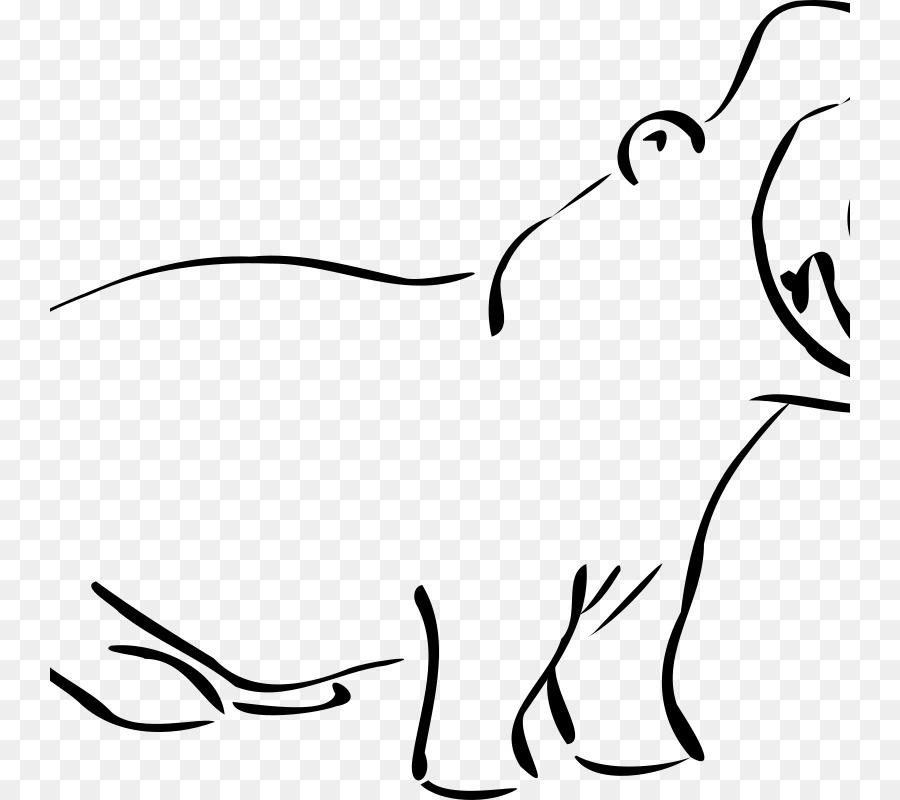 Hippopotamus Art Computer Icons Clip Art Hippo Png Download 800