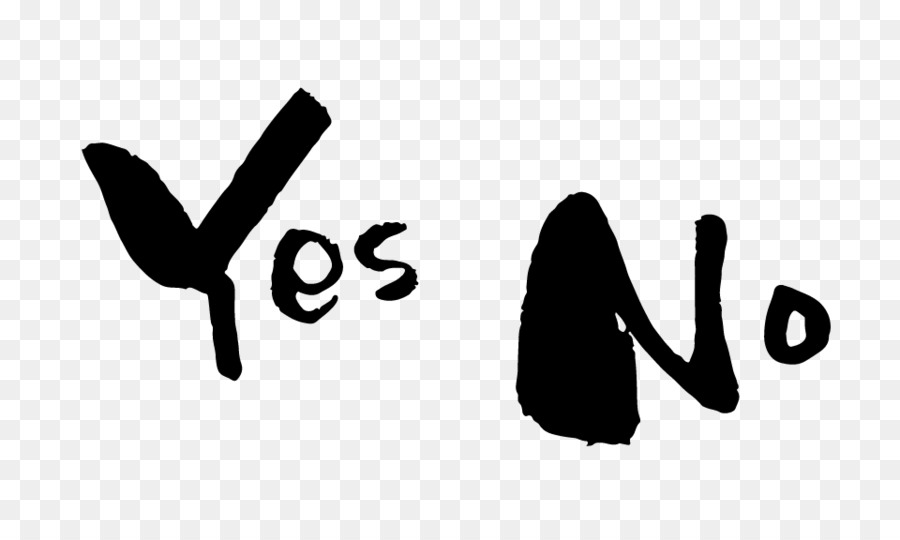 Yes No Maybe, Ink Brush, Desktop Wallpaper, Black, Text PNG