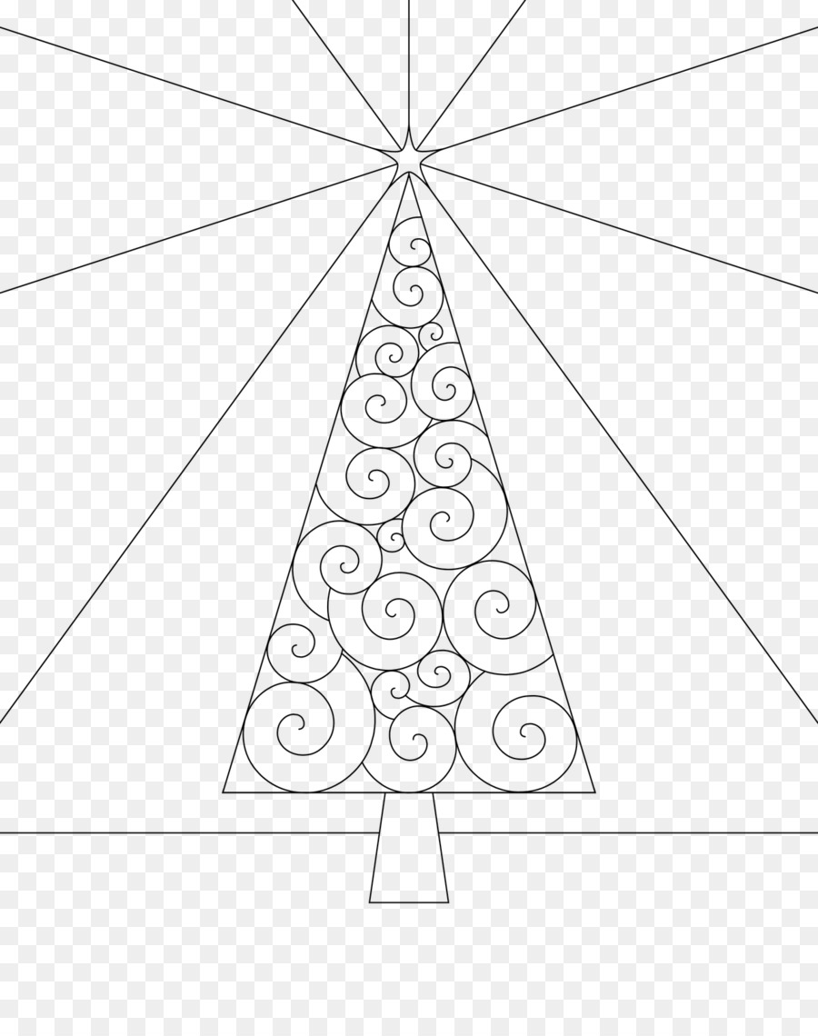 line art christmas tree coloring book tree outline