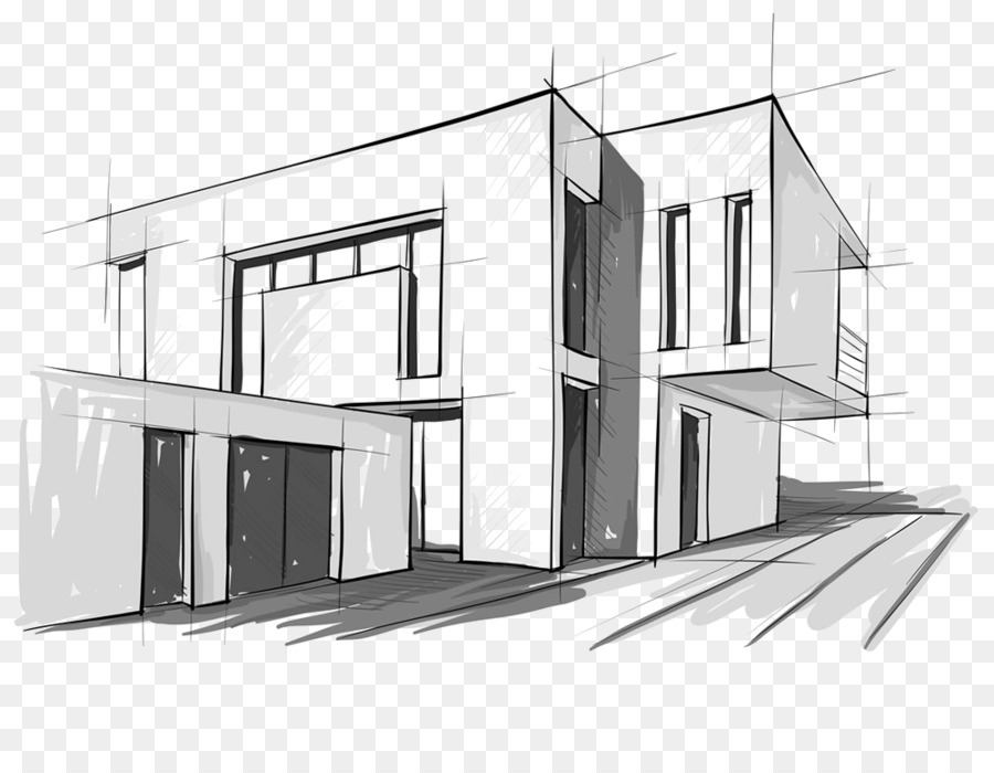 Modern Architecture Architectural Drawing Sketch Design Png
