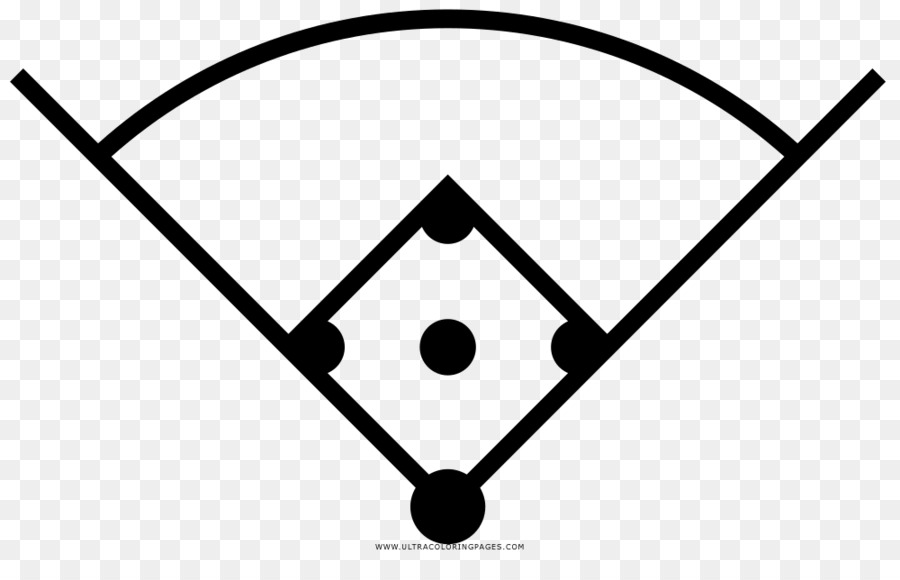 El campo de béisbol de Dibujo de Béisbol de las reglas de Bates de ...