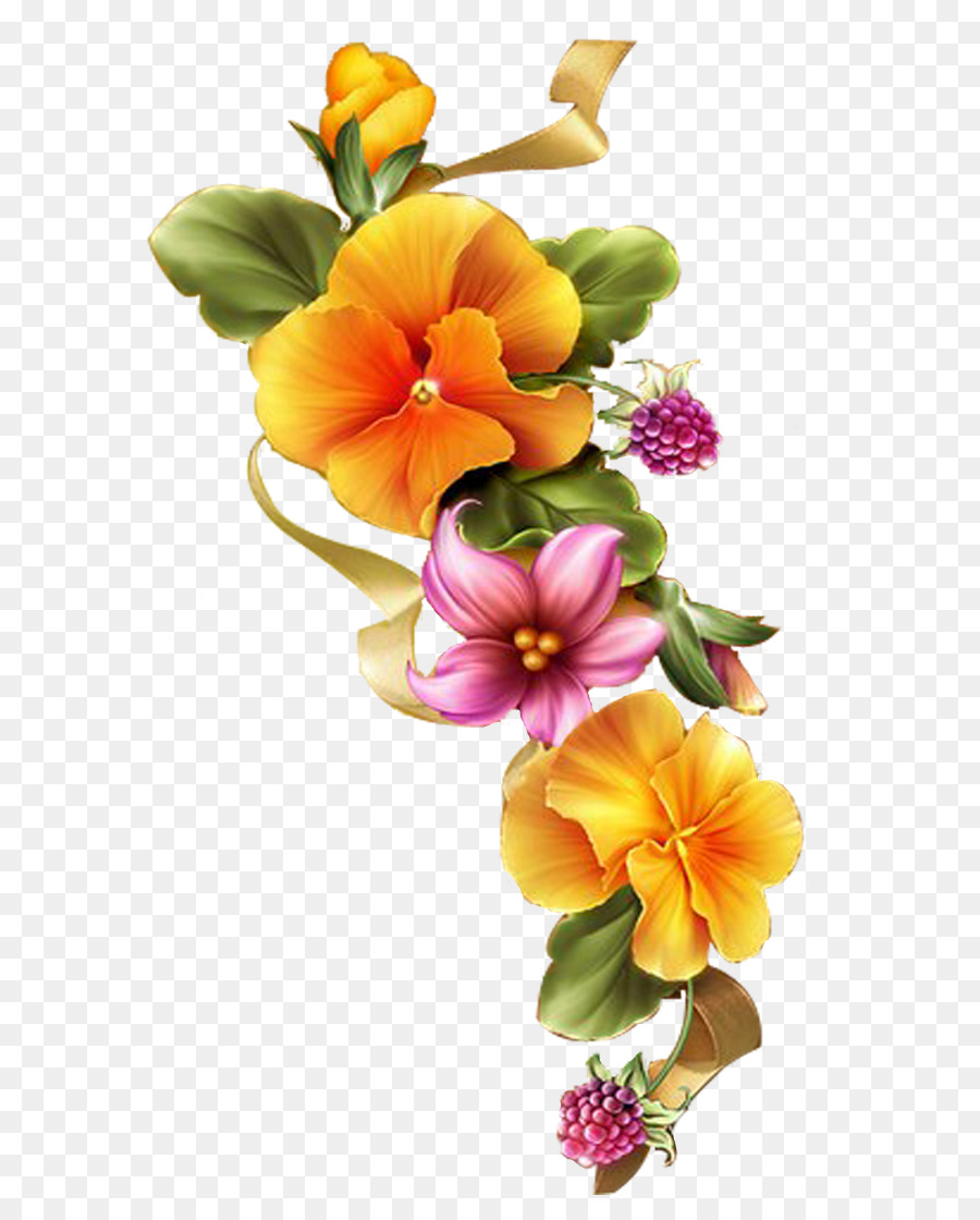 Floral Design Paper Flower Embroidery Painting Flower Png Download