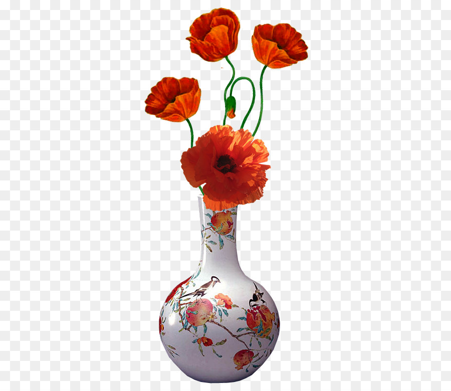 Flower Vase Painting Flower Png Download 372780 Free