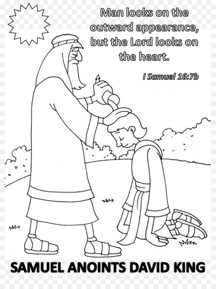 Bücher von Samuel Bible story Coloring book Salbung - König david ...