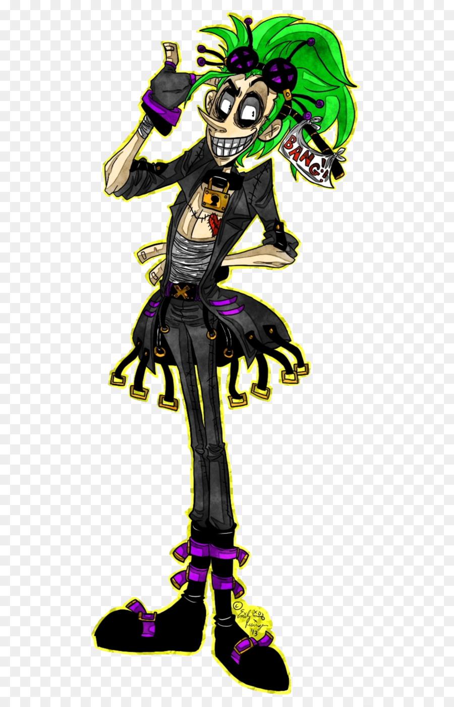 Joker Desain Kostum Makhluk Legendaris Fiksi Joker Unduh