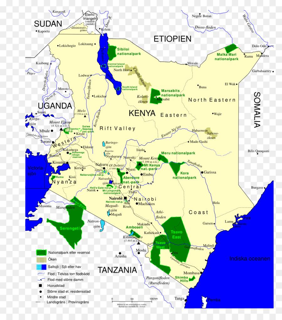 Mount Kenya Map National Park Carta Geografica Map Png Download