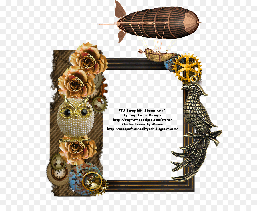 Picture Frames Reality Dream Mardi Gras - steampunk border png ...
