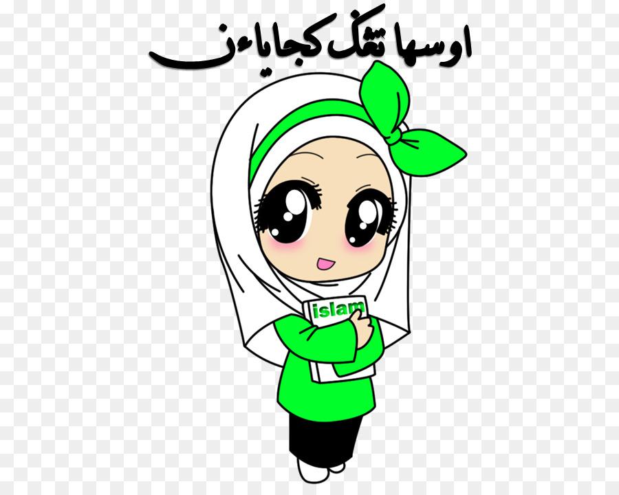 Islam Wanita Muslimah Cartoon Png Download 562 707 Free Foto
