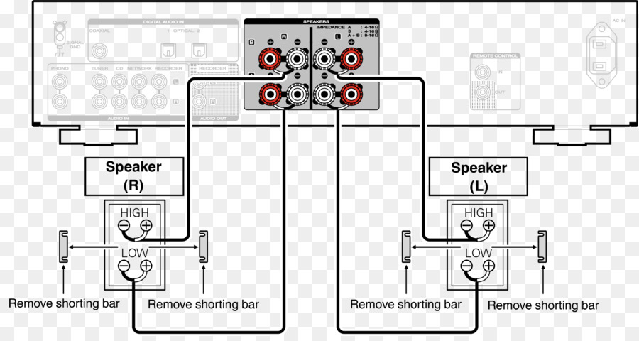 wiring diagram for bi amping