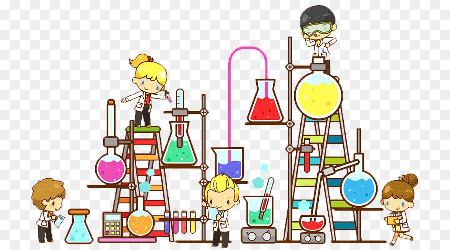 laboratory chemistry science cartoon