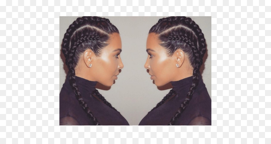 Kim Kardashian Khloe Kardashian Cuadro De Trenzas Peinado Kim K