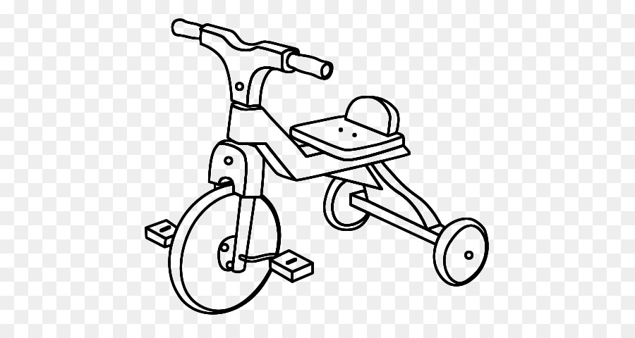 Tricycle Coloring Book Drawing Vehicles Coloring Pages Bicycle