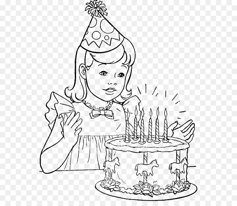 Birthday Cake Coloring Book Party Happy Birthday To You Birthday