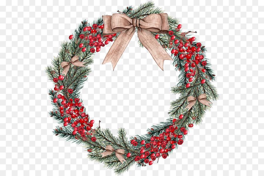 Christmas Wreath Drawing.Christmas Wreath Drawing Png Download 600 600 Free