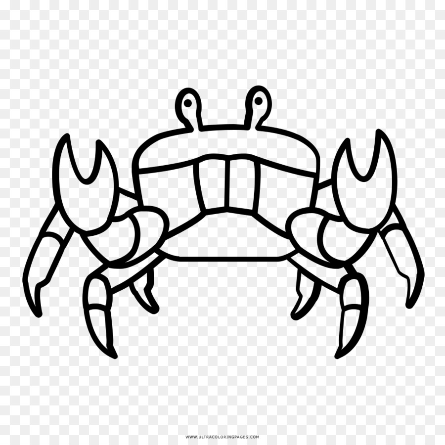 Kepiting Hitam Dan Putih Menggambar Buku Mewarnai Kepiting Unduh