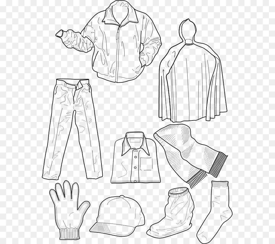 T Shirt Abbigliamento Invernale Libro Da Colorare Cappotto