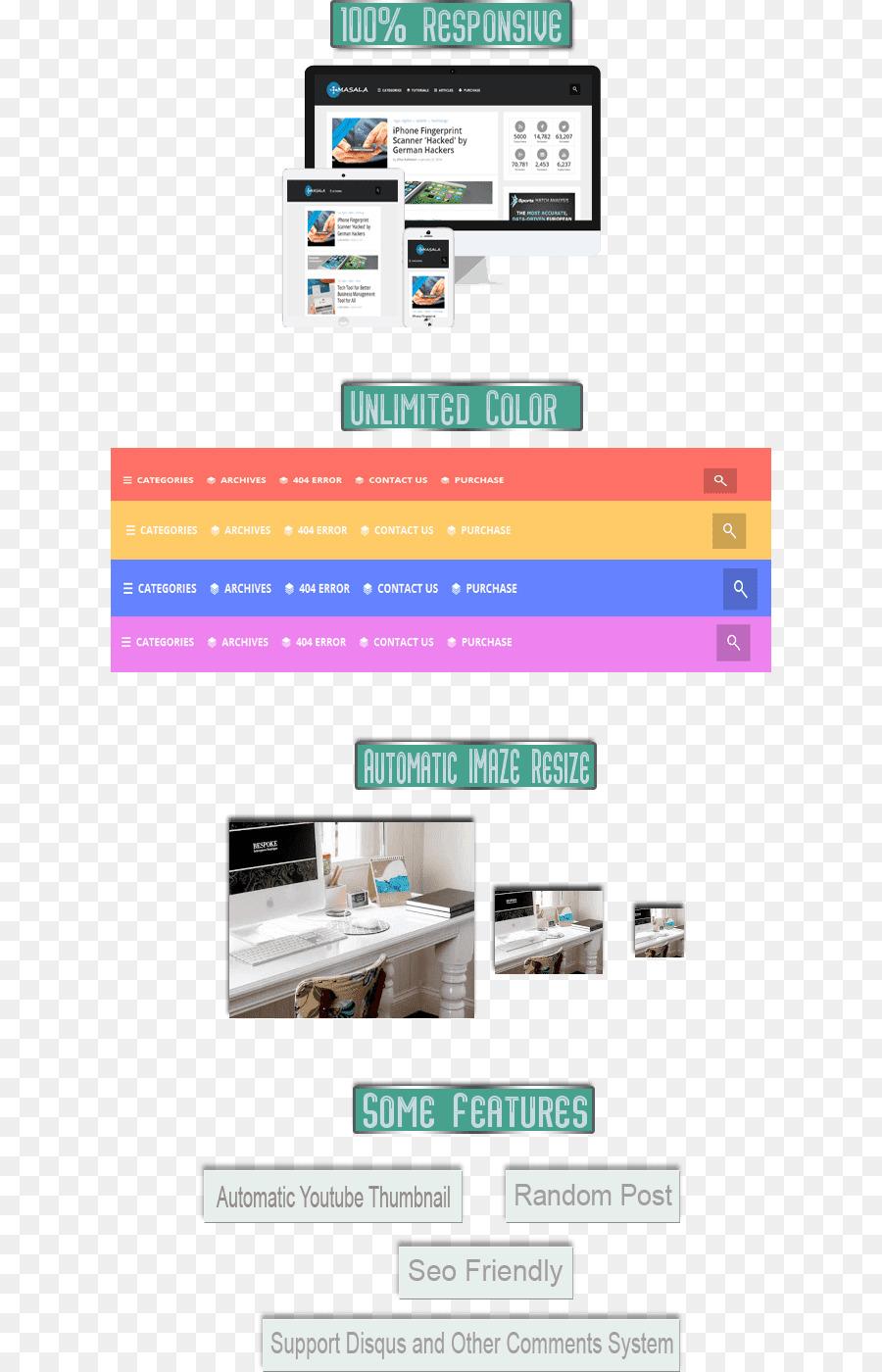 Responsive Web Design Blogger Template Web Page Wordpress Png