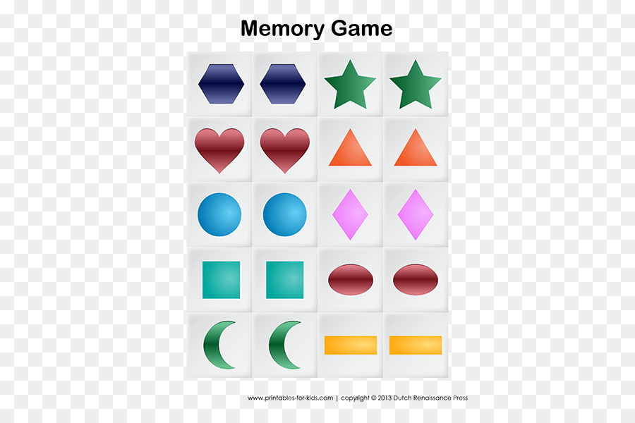 Symbol Drawing Memory Game Png Download 450582 Free