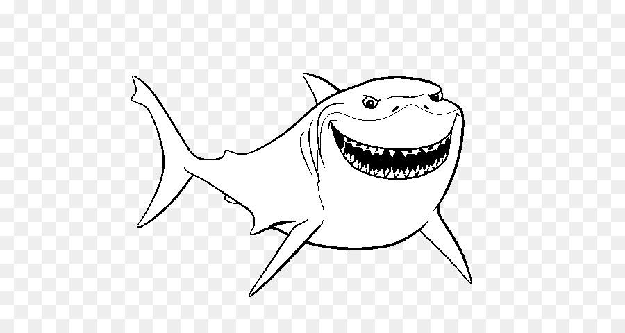 Bruce Darla libro para Colorear, Dibujo de buscando a Nemo - Bruce ...