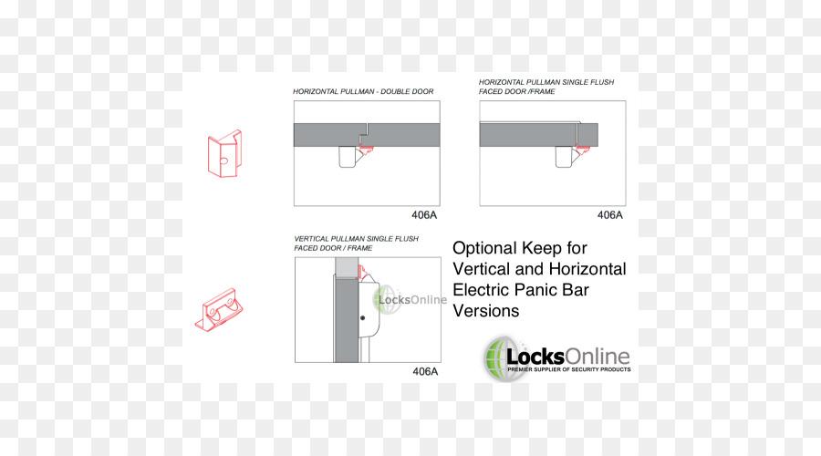 latch, crash bar, emergency exit, text, diagram png