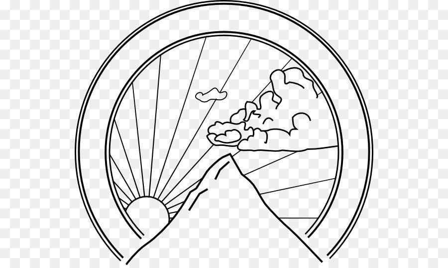 Libro para colorear de la Montaña Hermosa - la montaña png dibujo ...