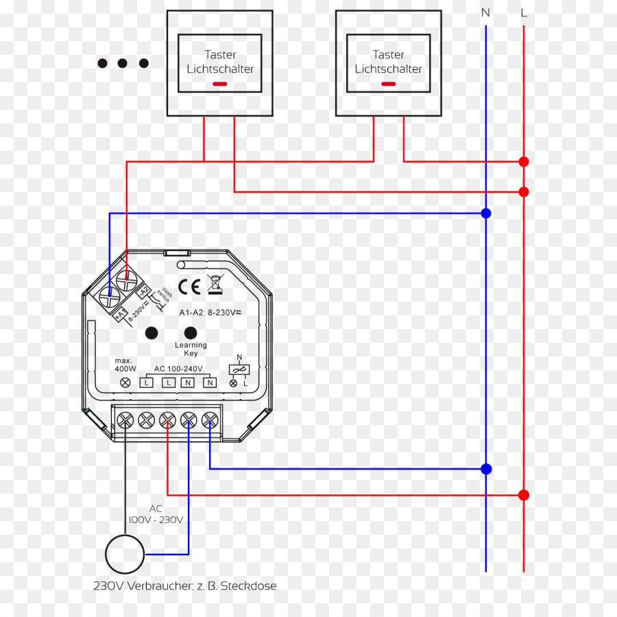 Circuit diagram Electrical Switches Dimmer Electronic circuit - high voltage