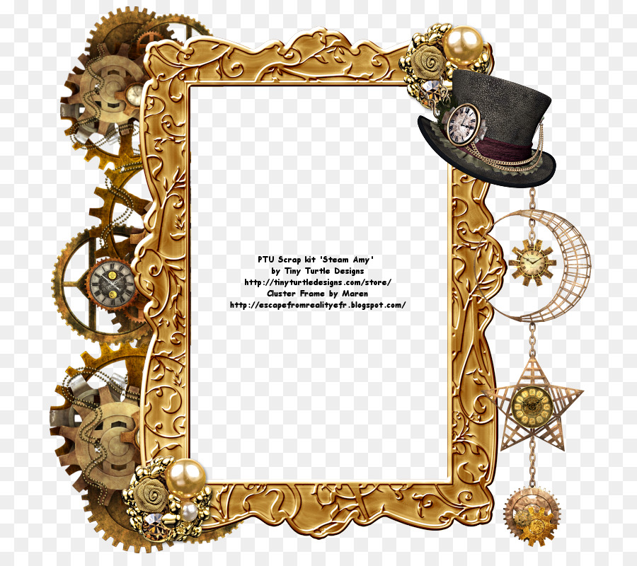 Picture Frames Steampunk Work of art Reality - steampunk border png ...