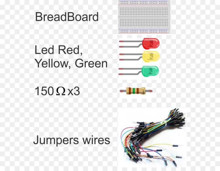 Breadboard Jumper Elektronik Jump wire Arduino - Ampel Grün png ...