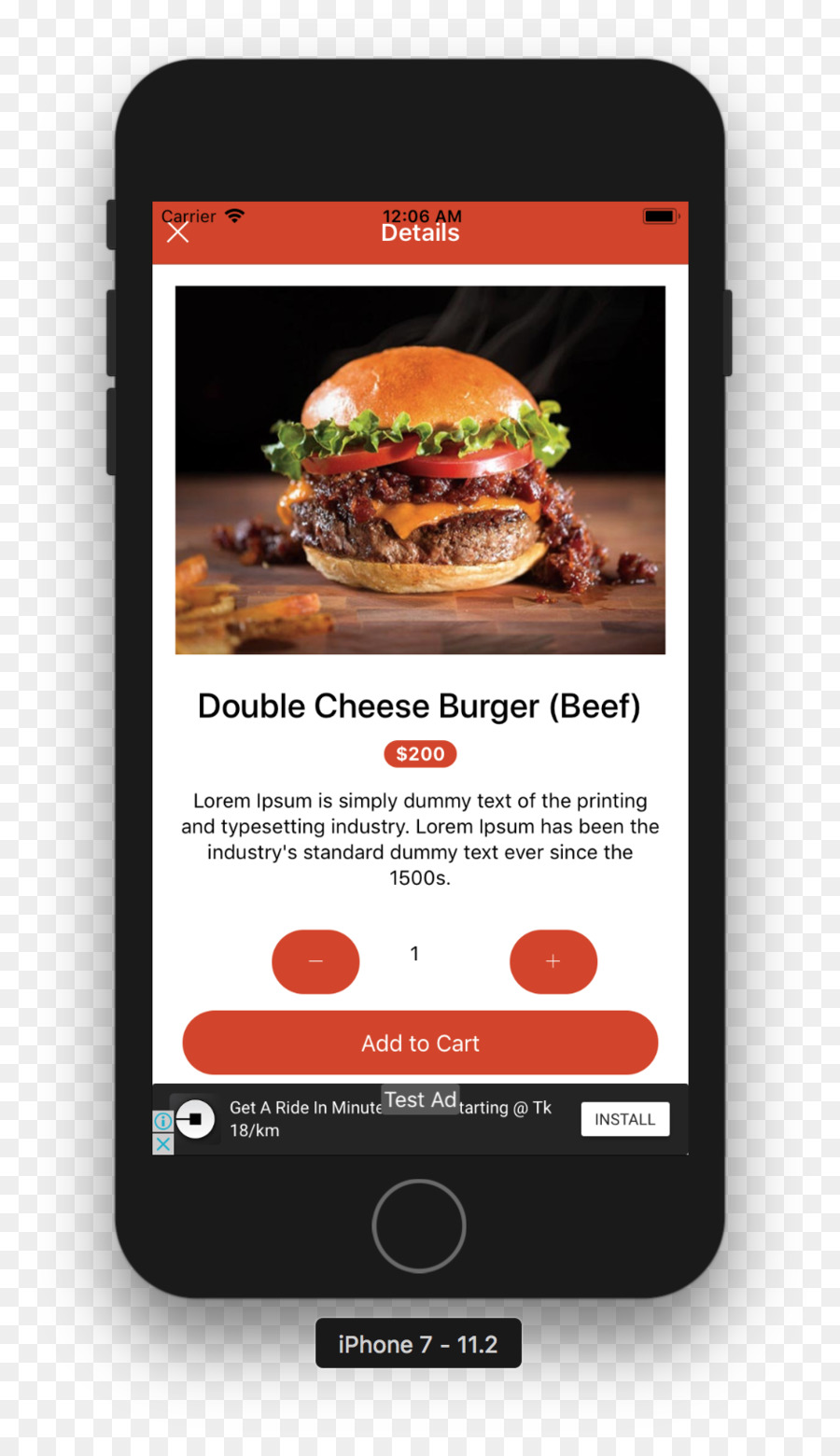 Online food ordering Ionic Template - restaurant food item png ...