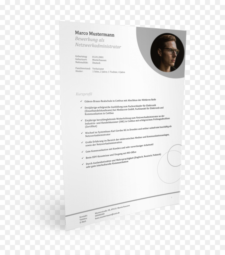 Application for employment Template Curriculum vitae Muster Cover ...