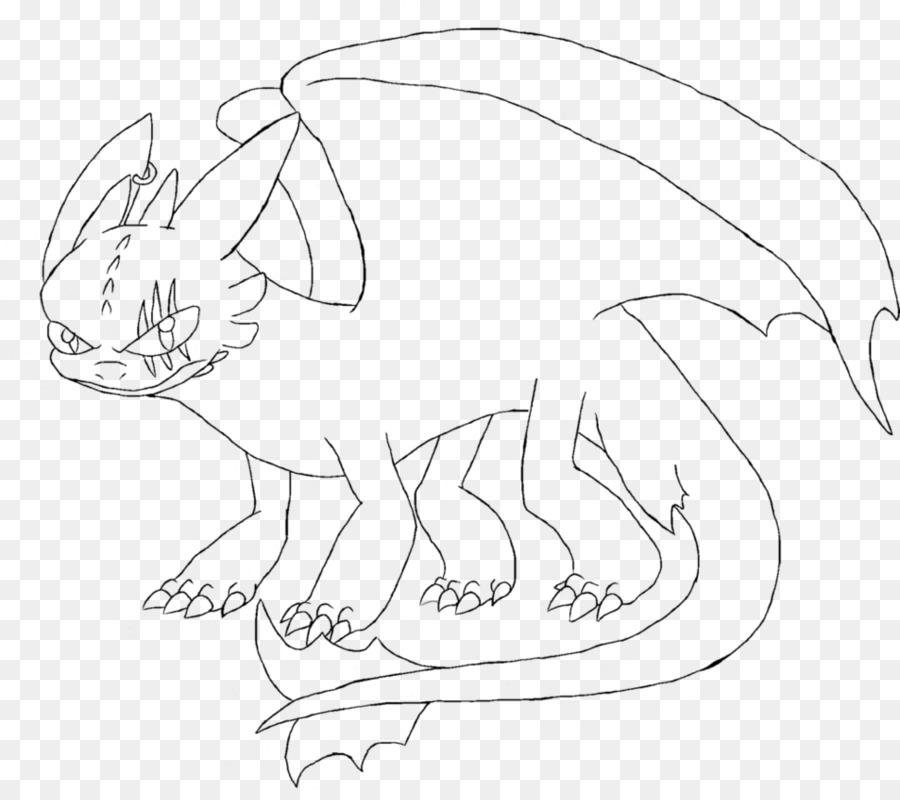 Domestic Rabbit Line Art Drawing Night Fury Toothless Taichi Png