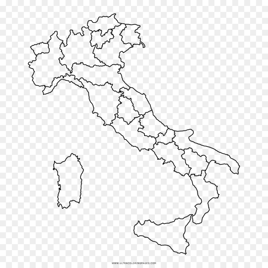 Regions of Italy Map Coloring book United States Simonetti Andrea ...