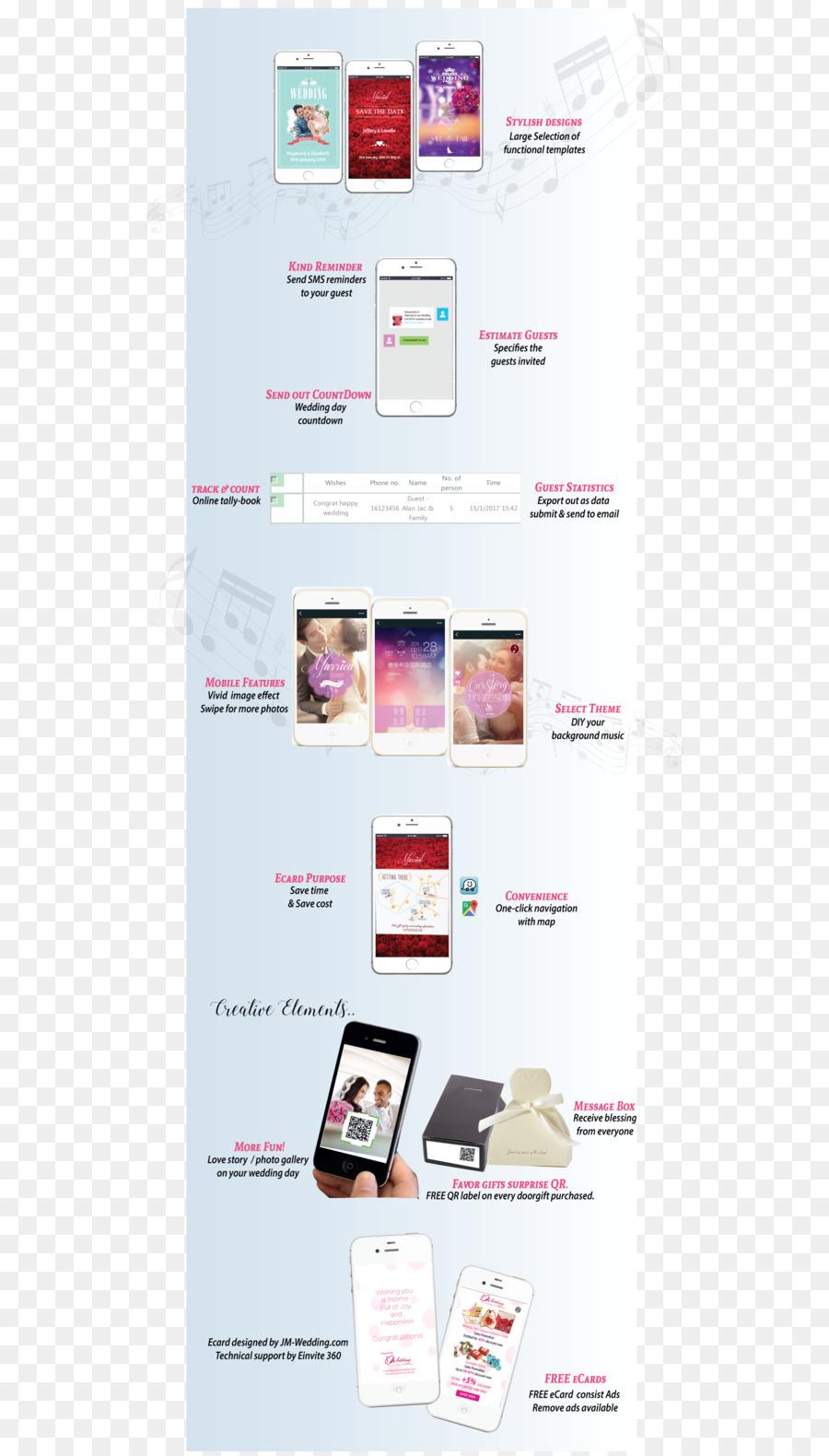 Wedding invitation E-card - wedding png download - 1774*3104 - Free ...