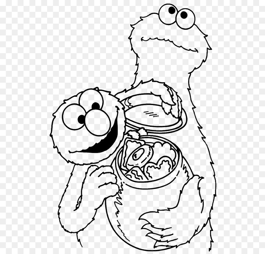 Cookie Monster Elmo Chocolate chip cookie Coloring book Biscuits ...