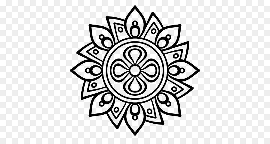 Mandala Dibujo para Colorear libro Rangoli - Flor mandala png dibujo ...