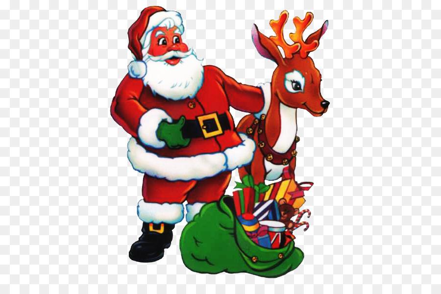 Santa Claus Reindeer Christmas Ornament Noel Baba Resimleri Png