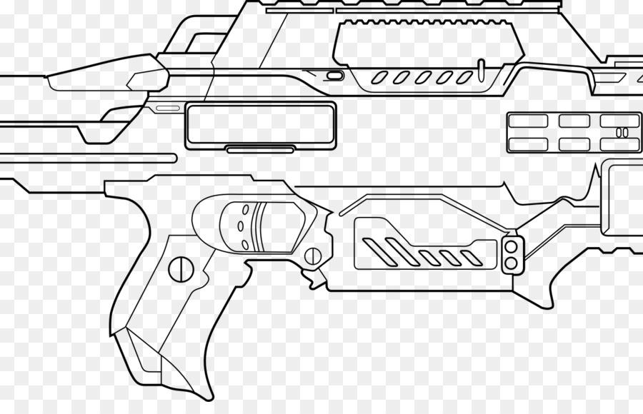 Libro para colorear de Nerf Blaster Arma de fuego Arma de fuego ...