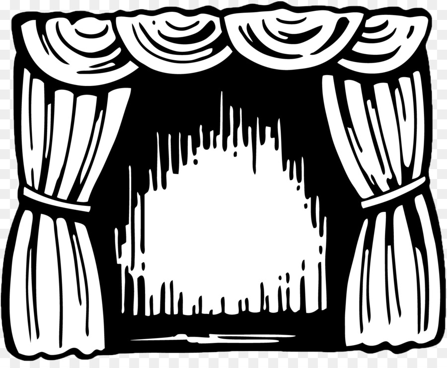 Theater Drapes And Stage Curtains Theatre Cinema Drawing Clip Art