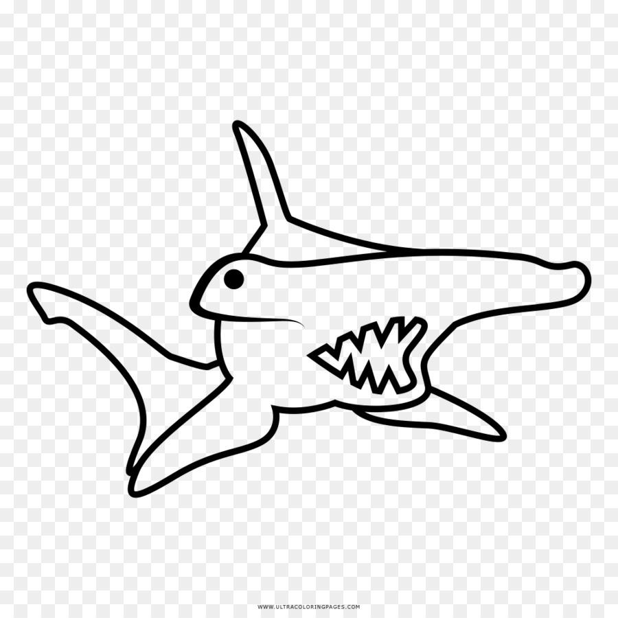 çekiç Başlı Köpek Balığı Büyük Boyama Kitabı çizim çizim çekiç