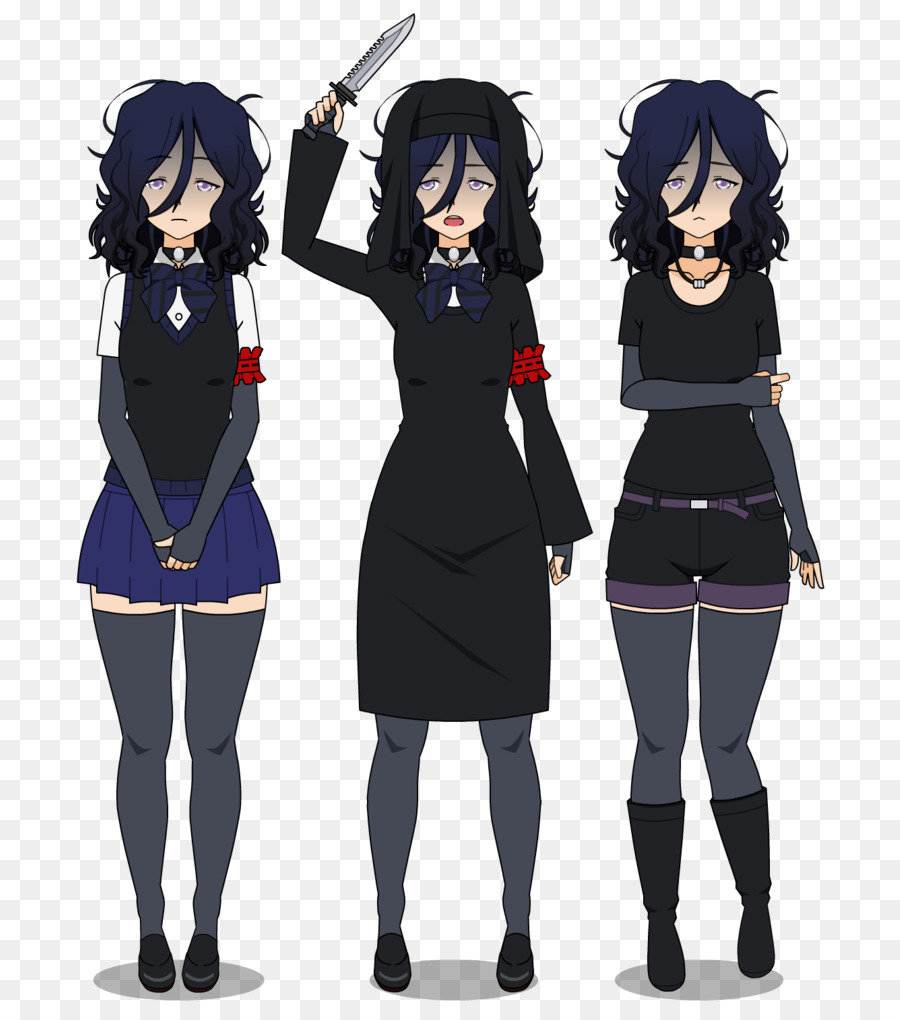 a3ba57fb95b Yandere Simulator DeviantArt Clothing Outerwear - hairstyle download png  download - 793 1008 - Free Transparent png Download.