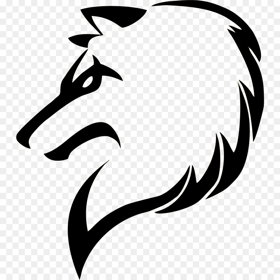 Drawing drawer arctic wolf black and white black png