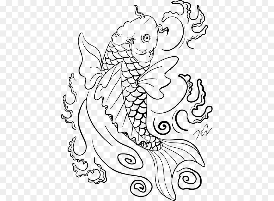 Koi Fish Drawing Carp Coloring Book