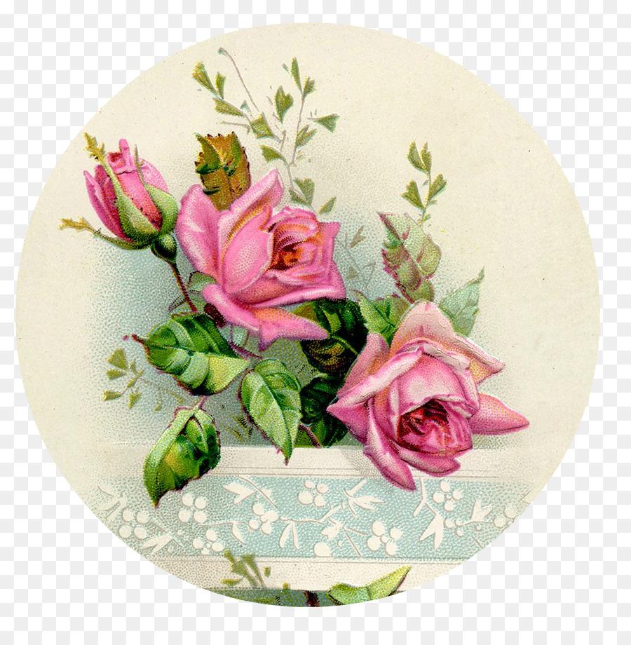 Paper Rose Flower France Decoupage Rose Png Download 893907
