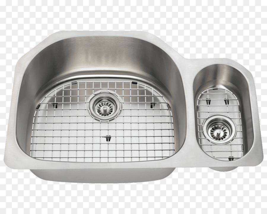 kitchen sink Brushed metal Stainless steel kitchen sink - Top ...
