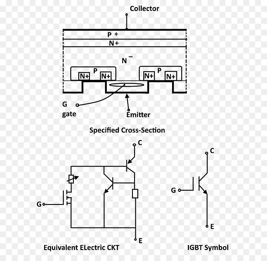 Insulated-gate bipolar transistor Electronic symbol Bipolar junction  transistor Electronic circuit - igbt symbol