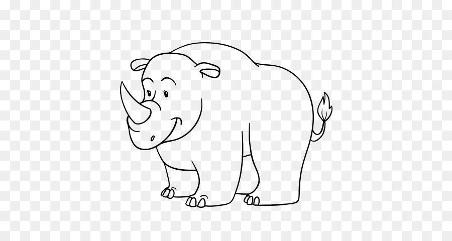De rinoceronte, Hipopótamo, elefante Indio Dibujo Clip art ...