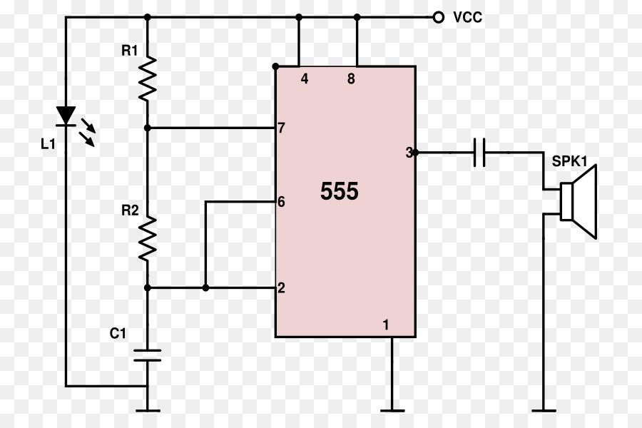555 Timer IC Mosquito Electronic Circuit Electronics Diagram