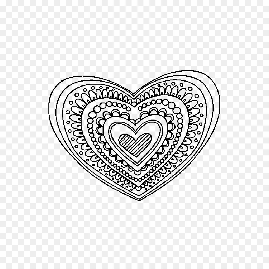 Mandala libro para Colorear, Dibujo de corazón Humano - mandala Png ...